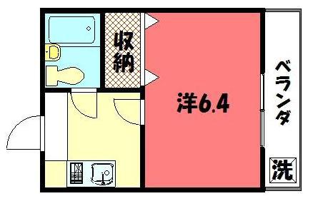 物件番号: 1075900170 森マンション6 京都市左京区一乗寺南大丸町 1K マンション 間取り図