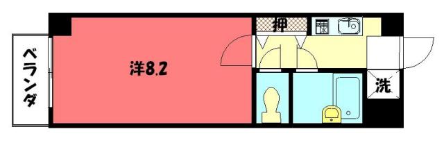 物件番号: 1075900206 ラ・リビエール  京都市左京区山端川岸町 1K マンション 間取り図