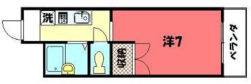 物件番号: 1075901637 ルミエール泉 京都市左京区高野泉町 1K マンション 間取り図