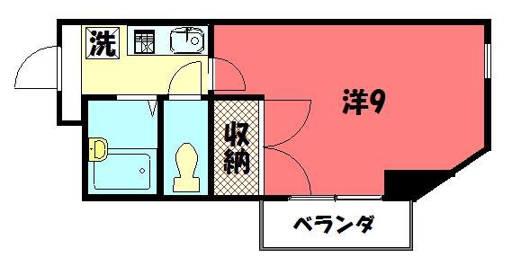 物件番号: 1075904980 ソレイユ 京都市左京区一乗寺下リ松町 1K マンション 間取り図