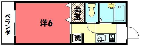 物件番号: 1075905280 ディアスグリーンホンマチ  京都市左京区吉田本町 1K ハイツ 間取り図