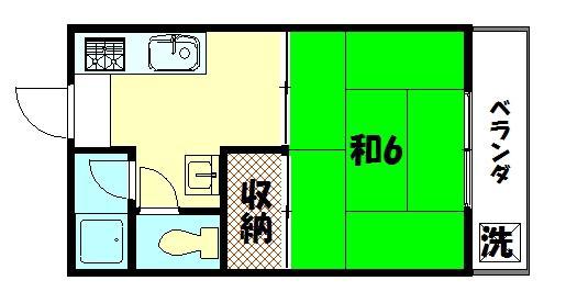 物件番号: 1075906238 グラーベンハウゼ  京都市左京区下鴨南芝町 1K ハイツ 間取り図