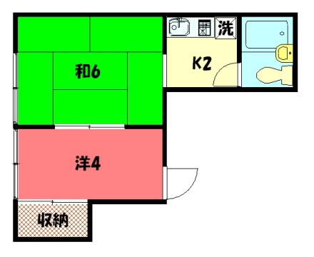 物件番号: 1075906435 ムジカ・サーラ 京都市左京区松ケ崎芝本町 2K ハイツ 間取り図