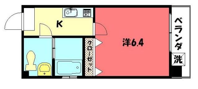 物件番号: 1075907830 バウハウス北白川 京都市左京区北白川上別当町 1K マンション 間取り図