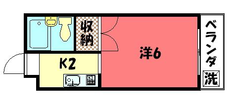 物件番号: 1075912294 コーポ下鴨13  京都市左京区下鴨蓼倉町 1K コーポ 間取り図