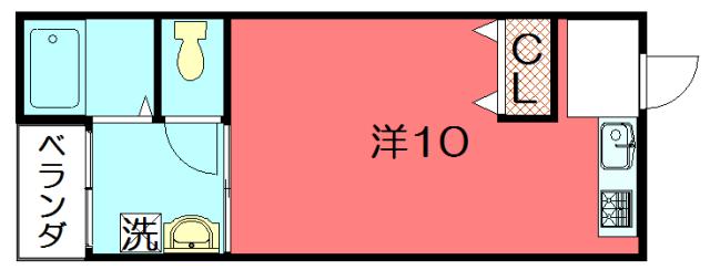物件番号: 1075913872 藤川ビル 京都市左京区田中里ノ内町 1SDK マンション 間取り図