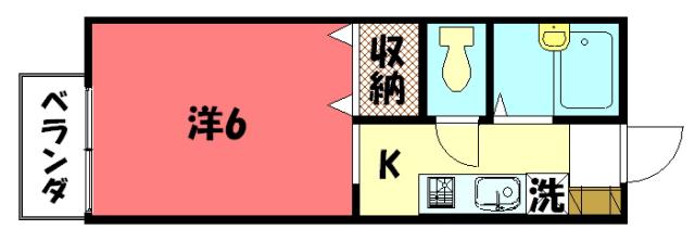 物件番号: 1075914749 ドミール  京都市左京区松ケ崎堂ノ上町 1K ハイツ 間取り図