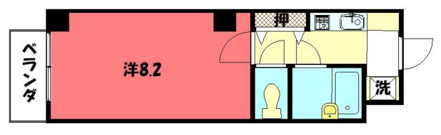 物件番号: 1075917486 ラ・リビエール  京都市左京区山端川岸町 1K マンション 間取り図