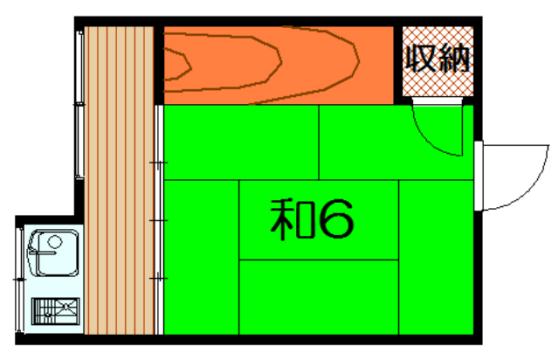 物件番号: 1075918181 堂ノ前 北荘 京都市左京区北白川堂ノ前町 1R アパート 間取り図