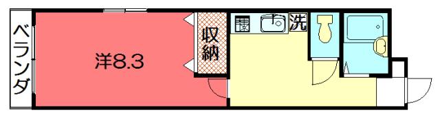 物件番号: 1075921225 ノーサイド聖護院  京都市左京区聖護院中町 1K マンション 間取り図