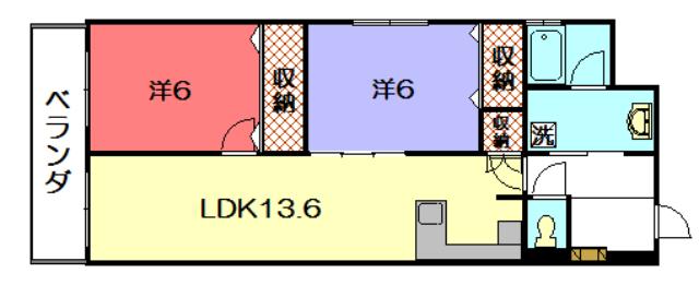 物件番号: 1075921439 リーガル京都聖護院 京都市左京区聖護院山王町 2LDK マンション 間取り図