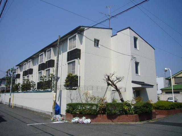 物件番号: 1075918602 メゾン奥山 京都市左京区北白川平井町 1K マンション 外観写真